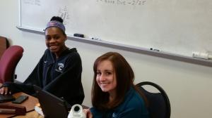 Seniors working with smiles