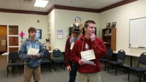 8th graders enjoy Mr. Cobb's math class.