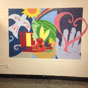 Day of service mural at Jenkins center