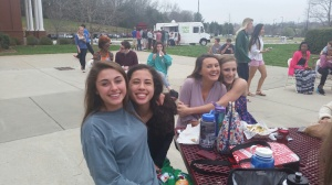 Time in the quad with friends.