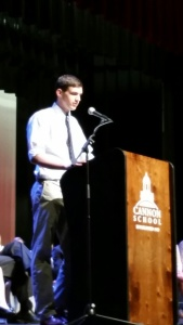 Jack Addresses the student body.
