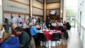 Parents and new Cum Laude inductees enjoy lunch in the Campbell Gallery.