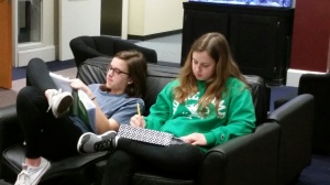 Studying in the Commons.