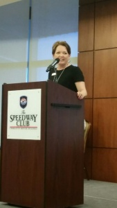 Mrs. Otey addressed the senior class during senior breakfast.