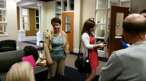 Parents enjoyed capstones and refreshments.