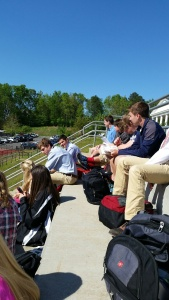 Beautiful day to learn outside.