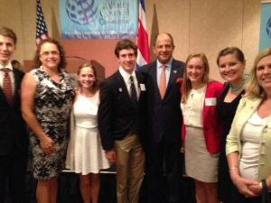 Students met the president of Costa Rica,