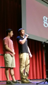 What a wonderful goodbye speech from our president and vice president of student council.