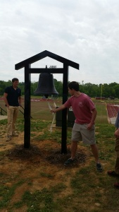 President and Vice president were the first to ring the victory bell.